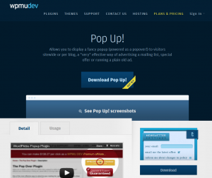 WPMU DEV Pop Up! Plugin page full-size image