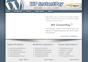 WP-InstantPay.com Worpress Affiliate Plugin home page full-size image