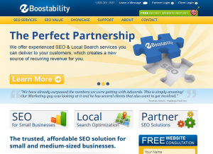 Boostability.com Local Marketing Service home page full size image