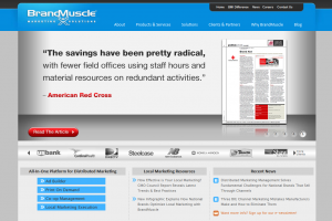 BrandMuscle.com Local Marketing Software home page full size image
