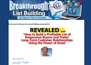 BreakthroughListBuilding.com full size home page image