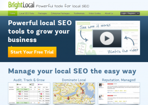 BrightLocal.com Local Marketing Software home page full size image