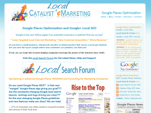 CatalysteMarketing.com Google Places optimization service home page full size image