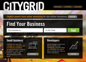 CityGrid.com Local Online Advertising Service full size home page image