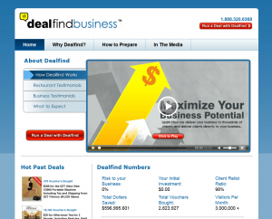 DealFindbusiness.com home page full size image