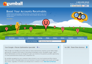 EgumBall.com Google Places optimization service home page full size image