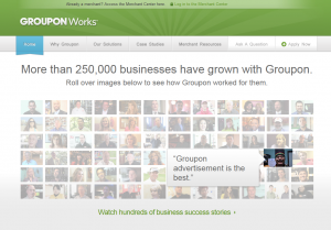 Groupon.com Advertising for businesses (grouponworks.com) full size image