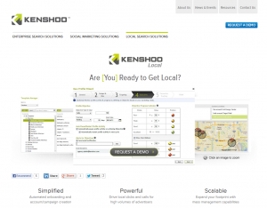 Kenshoo.com/local Local Marketing Software page full size image