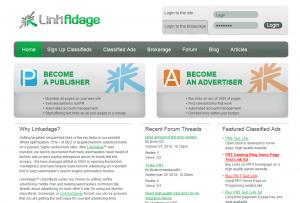 LinkAdage.com Link Marketplace home page full size image