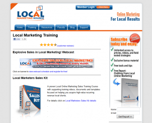 LocalMarketingSource.com Local Marketing Training home page full size image