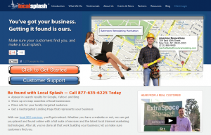 LocalSplash.com Local Marketing Service home page full size image