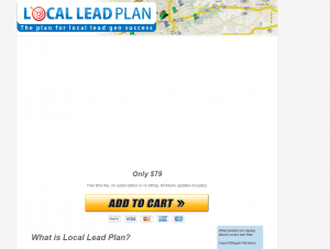 LocalLeadPlan.com Local Marketing Training course sales page full size image
