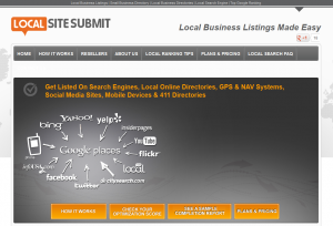 LocalSiteSubmit.com Local Business Directory Listing service home page full size image