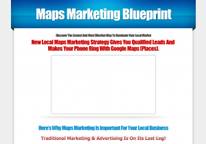 MapsMarketingBlueprint.com Google Local Optimization Training Program home page full size image