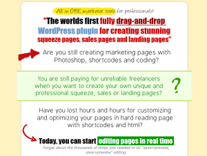 MarketerPlugin.com Wordpress Squeeze Page Plugin home page full size image