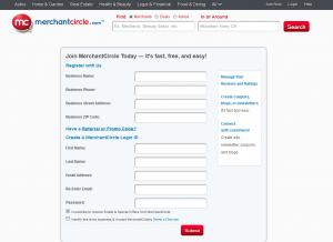 MerchantCircle.com business listing page full size image