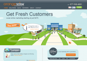 OrangeSoda.com Local Marketing Service reviews home page full size image