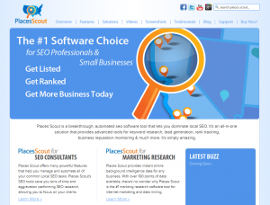 PlacesScout.com Local Marketing Software home page full size image