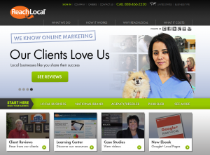 ReachLocal.com Local Marketing Service home page full size image