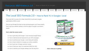 TheLocalSEOformula.com Local Marketing Training home page full size image