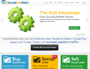SocialLinkMart.com Social Signal Marketplace home page full size image