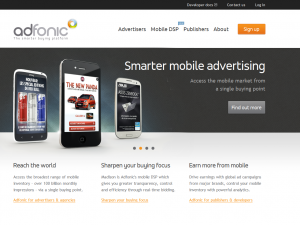 Adfonic.com Mobile Advertising Network home page full size image