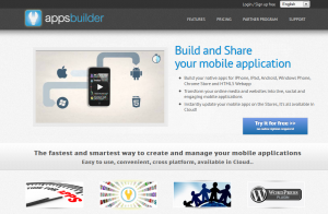 Apps-Builder.com Mobile App Builder Software home page full size image