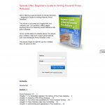 Beginner's Guide to Writing Powerful Press Releases thumbnail image