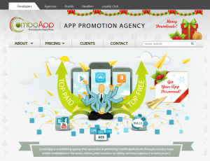 ComboApps.com Mobile App Marketing Agency home page full size image