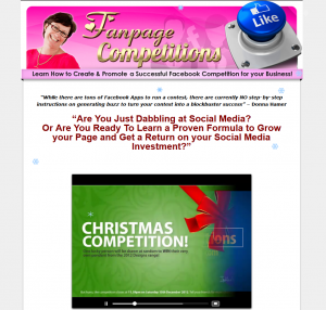 FanpageCompetitions.com Facebook Contest Marketing tutorial home page full size image