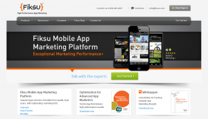 Fiksu.com Mobile App Marketing Platform home page full size image