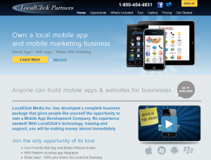LocalClickPartners.com Mobile App Builder home page full size image