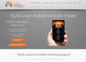 MobileMarketingStudio.com Mobile Website Design Software home page full size image