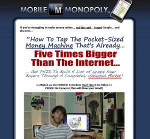 MobileMonopoly.com Mobile Marketing Training home page full size image