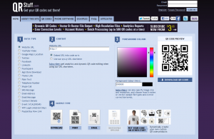 QRStuff.com QR Code Generator home page full size image