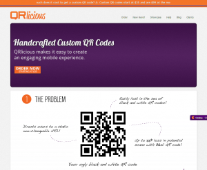QRlicious.com QR Code Templates and design service home page full size image
