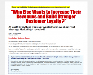 TextMessageMarketingPro.com SMS Marketing Training Tutorial home page full size image