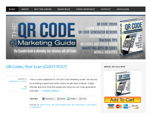 TheQRCodeMarketingGuide.com home page full size image