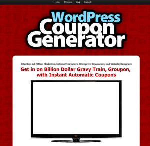 Wpcoupongenerator.com home page full size image