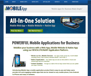 iMobileApp.com Mobile App Development Service home page full size image