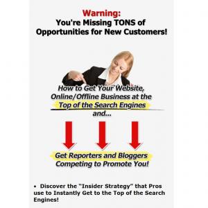 SearchEngineCaffeine.com Press Release Marketing eBook home page full size image