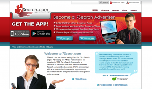 7search.com PPC Search Engine home page full size image