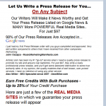 Articlez Press Release Writing service thumbnail image