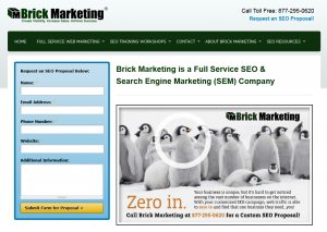 BrickMarketing.com SEO Services home page full size image