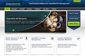 ClickSweeper.com PPC Management software home page full size image