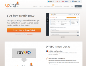 Upcity.com Local Marketing and SEO software home page full size image