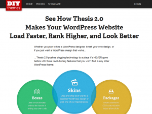 Thesis 2.0 Wordpress SEO Theme sales page full size image
