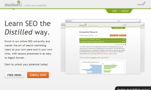 Distilled.com/U SEO Training Course overview page full size image