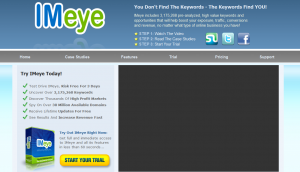 IMeye.com PPC/SEM Keyword Research Software home page full size image