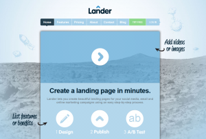 LanderApp.com Landing Page Software home page full size image